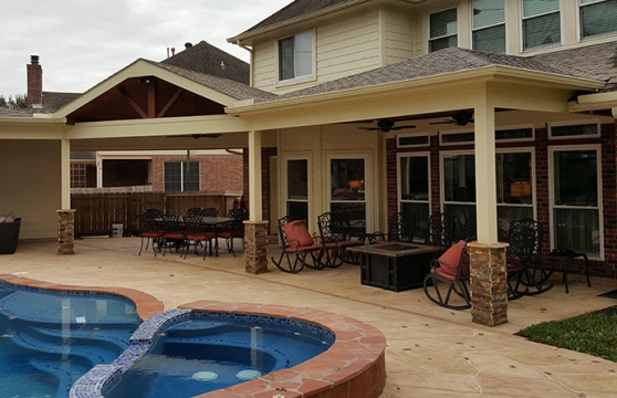 This Low Sloped Patio Cover Has Done Wonders In Extending The Total Living  Area Of The Family. This Addition Does Not Only Increase Their Space But  Also The ...